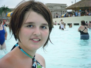 Jayde at the water park