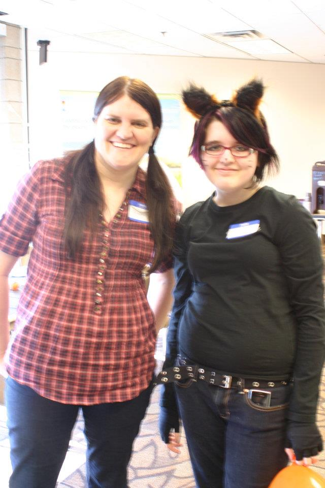 Jayde and I at IARC Halloween Party